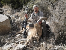 "Juan R. Luna with his southern NM, 22"" ram."