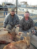 "Roy Bell and Brian Cobb with their 2012 barbary sheep: 23"" & 19"" - killed near Roswell."