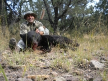 Michael Sandoval with his Black Range (GMU 21) rifle Black Bear, October 2010.