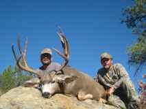 C.E. Kinard took this 195 inch Northern NM Mule Deer while hunting with Mountain States Guide Service.