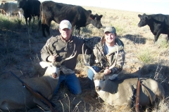 Ted and Adam with their unit 31 bucks.