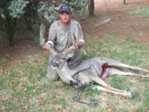 Gary Ray with the deer he harvested during the September bow hunt in GMU 31.