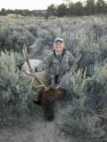 Christine Gonzales's first bull elk taken in unit 51, October 2010.