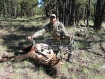 Bud Davis with his GMU 15 Archery elk, September 2010.