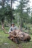 Josh Waldrip with his archery elk, September 2010.