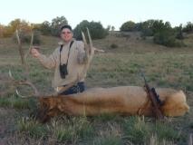 John Nix with the bull elk he harvested in GMU 12. Nice bull John!