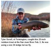 fishing-report-san-juan-river-rainbow-trout-02-11-2020-NMDGF