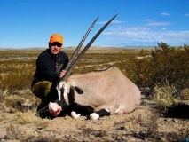 Doug McKim with his Southern NM Oryx.