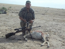 Roy Bell with his 2011 antelope hunt west of Hobbs, NM.