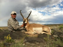 Rick Vernon with his 2011 muzzleloader antelope he harvested in GMU 52.