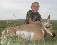 Madison with her first SE area pronghorn. This is what it's all about!