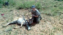 Hunter Edwards with his first Antelope. Great job Hunter!