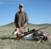 Canyon Young with the pronghorn antelope he harvested near Raton in September. Great job Canyon!