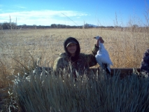 eenan Garrett harvested these snow geese during the Bosque Del Apache Youth Snow Goose hunt.
