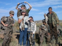 A bird in the hand for this group of kids during the Federal Youth Waterfowl Days at Bernardo WMA.