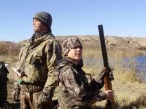 Dave Stambaugh and his son Tyler hunting ducks at La Joya WMA.
