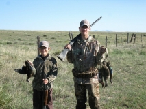 Canyon and Cody Young with the ducks they harvested while hunting on the Bernardo Waterfowl Management Area. Great job guys!
