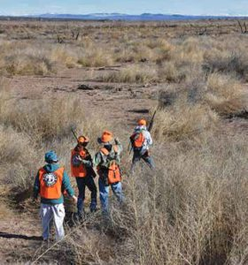 Volunteers guide youth hunters and their parents during their quail hunt. New Mexico Wildlife magazine, NMDGF