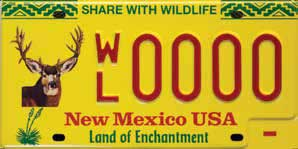For those looking for a quick, inexpensive way to support wildlife conservation in New Mexico, the Department of Game and Fish has the solution: the new mule deer Share with Wildlife license plate.  New Mexico Wildlife magazine, NMDGF.