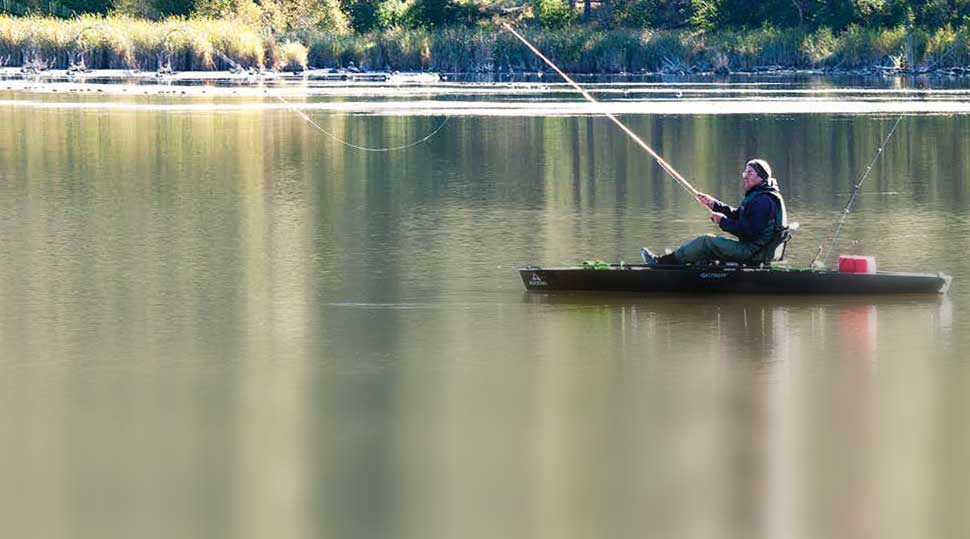 Kayak fishing provides an opportunity for anglers looking for some tranquility to reach more remote locations where they can enjoy some time alone. New Mexico Wildlife magazine, NMDGF