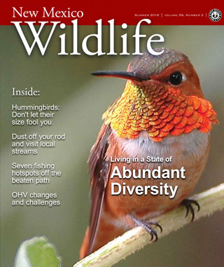 Living in a State of Abundant Diversity - New Mexico Wildlife magazine - Volume 59, Number 2, Summer 2016, New Mexico Game and Fish (NMDGF).
