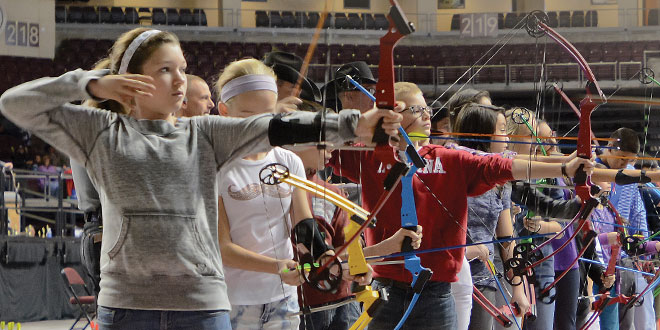 Competition at NASP State Tournament, New Mexico Department of Game and Fish