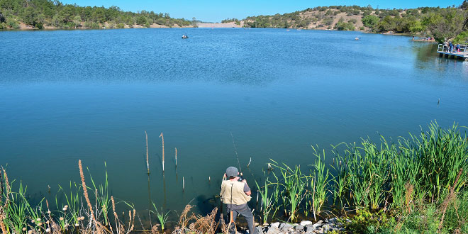 Lake Roberts in the Upper Mimbres Valley in the Gila National Forest offers both winter trout and warmwater fisheries. Photo by Karl Moffat, New Mexico Wildlife magazine, NMDGF.