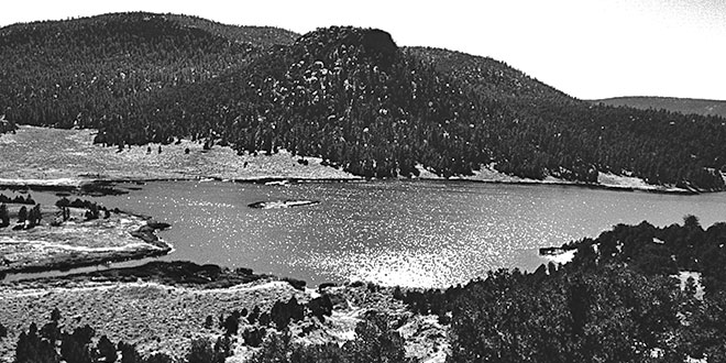 Quemado Lake . Photo: NMDGF. New Mexico Wildlife magazine, Vol-49, Num-3 Fall 2004. (Making Tracks: A Century of Wildlife Management. (History of the New Mexico Department of Game and Fish).