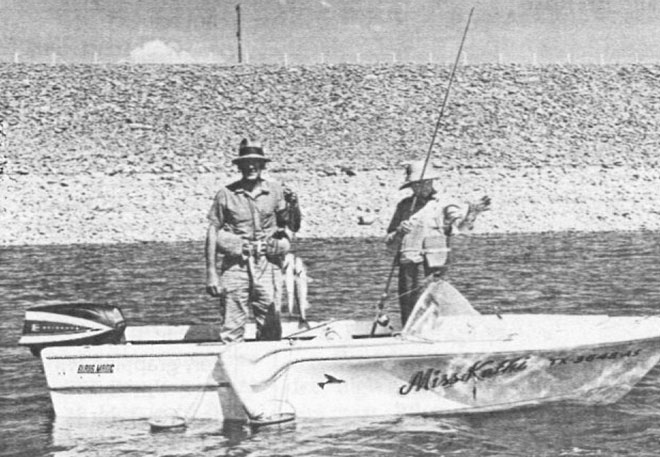 Reservoirs on the rivers benefit anglers. Photo: NMDGF. New Mexico Wildlife magazine, Vol-49, Num-3 Fall 2004. (Making Tracks: A Century of Wildlife Management. (History of the New Mexico Department of Game and Fish).