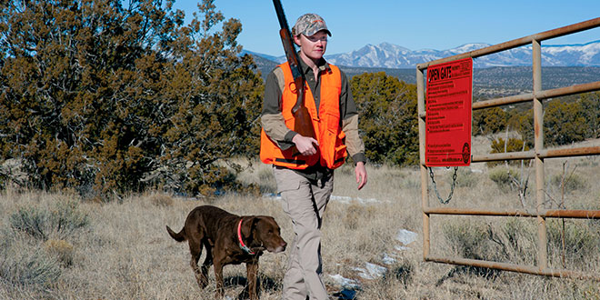 The Open Gate program improves access and enhances hunting, angling and trapping opportunities around New Mexico. The program is funded using a portion of the Habitat Management and Access Validation stamp revenue. Photo by Martin Perea, New Mexico Wildlife magazine, NMDGF.