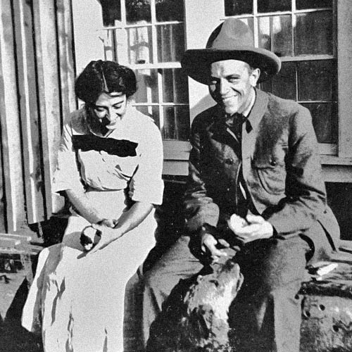 Estelle Leopold, Aldo Leopold in Tres Piedras, circa 1912. Photo: New Mexico State Records and Archvies. New Mexico Wildlife Magazine, Vol-48, Num-2 Summer 2003. (Making Tracks: A Century of Wildlife Management. (History of the New Mexico Department of Game and Fish).