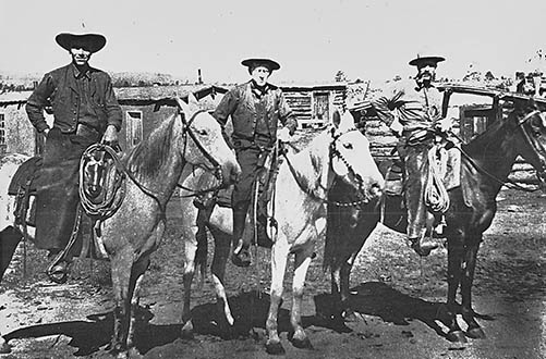 Leopold with Carson National Forest administrators in Tres Piedras. Photo: Raymond Marsh, University of Wisconsin - Madison Archives. New Mexico Wildlife Magazine, Vol-48, Num-2 Summer 2003. (Making Tracks: A Century of Wildlife Management. (History of the New Mexico Department of Game and Fish).