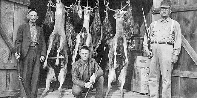 Deer harvest, 1930. Photo: NMDGF. New Mexico Wildlife Magazine, Vol-48, Num-1 Spring 2003. (Making Tracks: A Century of Wildlife Management. (History of the New Mexico Department of Game and Fish).