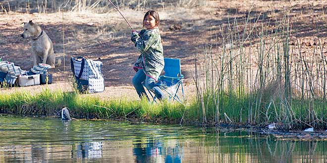 Rancho Grande ponds. Department photos by Tristanna Bickford. New Mexico Wildlife magazine Winter 2018 Vol61, Num1, New Mexico Department of Game and Fish.
