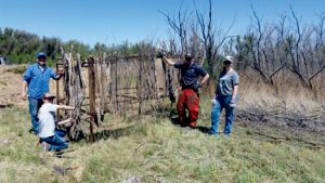 Wetlands on La Joya Wildlife Management Area. Left: Staff and volunteers assemble a youth hunting blind on Bernardo Wildlife Management Area. Department photos by Ryan Darr. New Mexico Wildlife magazine Winter 2018 Vol61, Num1, New Mexico Department of Game and Fish.