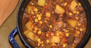 Elk green chile stew recipe. Department photos by Alexa J. Henry.
