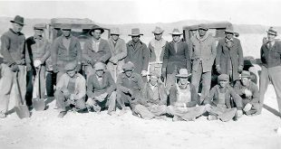 WPA workers pose at Dexter Fish Cultural Station ca 1936. USFWS National Fish and Aquatic Conservation Archives.