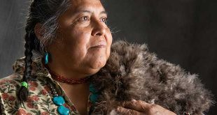DCA archeologist weaves a blanket made of 17,000 turkey feathers